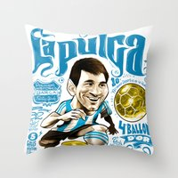 argentina Throw Pillows featuring Pulga Argentina by Gonza Rodriguez