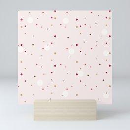 Rose-gold small dots pattern Mini Art Print