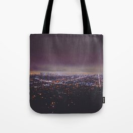 Smokey Skyline Tote Bag