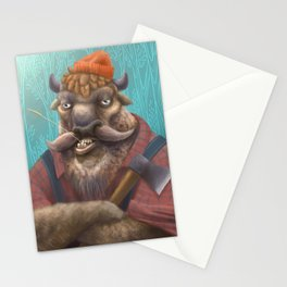Bison Lumberjack Stationery Cards