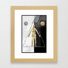 Golden Man Framed Art Print