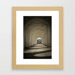 Arched colonnade Framed Art Print