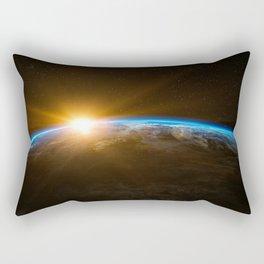 Sunrise Planet Earth Rectangular Pillow