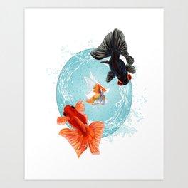 Goldfish Bowl (1 of 3) Art Print