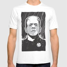 Frankenstein X-LARGE White Mens Fitted Tee