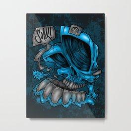 Soaker Skull Metal Print