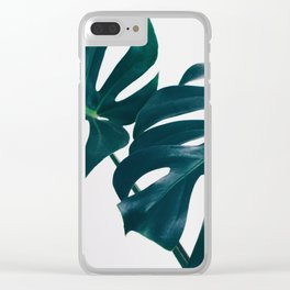 Monstera Minimal Clear iPhone Case
