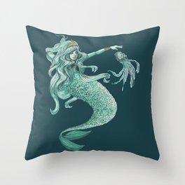 Enchanting Mermaid Throw Pillow
