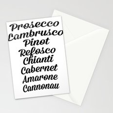 Italian wines Stationery Cards