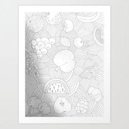 Fruit Faded Art Print