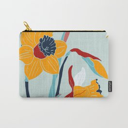 Mid Century spring floral Carry-All Pouch