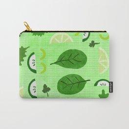 Green vegetable kitchen decor art - Mid Century modern food artwork Carry-All Pouch