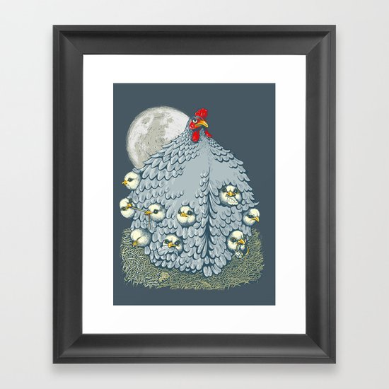 hen ship Framed Art Print