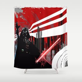 Red is the new Darkside Shower Curtain