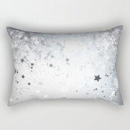 Silver Background with Stars Rectangular Pillow