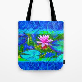 Lotus Blossom Blues Tote Bag
