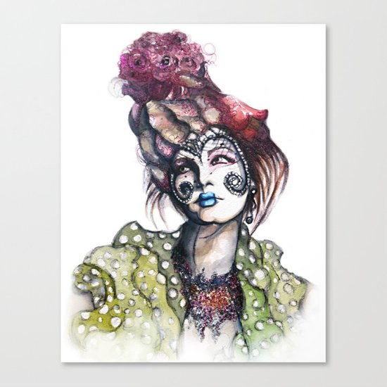 Great Expectations // Fashion Illustration Canvas Print