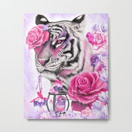 Fuschia Tiger - Sheena Pike  Metal Print