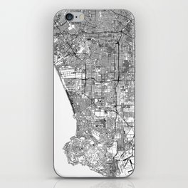 Los Angeles White Map iPhone Skin