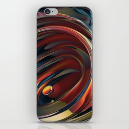 Spinning Glass 2 iPhone Skin