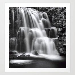 East Gill Force Black & White Art Print