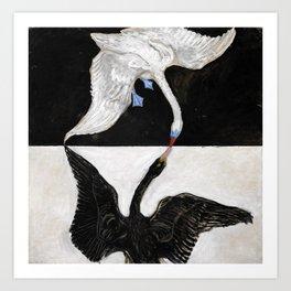 Hilma Af Klint The Swan No 1 Restored Art Print