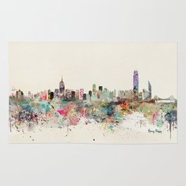 hong kong city skyline Rug