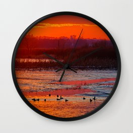 Duck Hole 2 Wall Clock