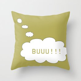 Balloon used in comic books thinking about cursing someone Throw Pillow