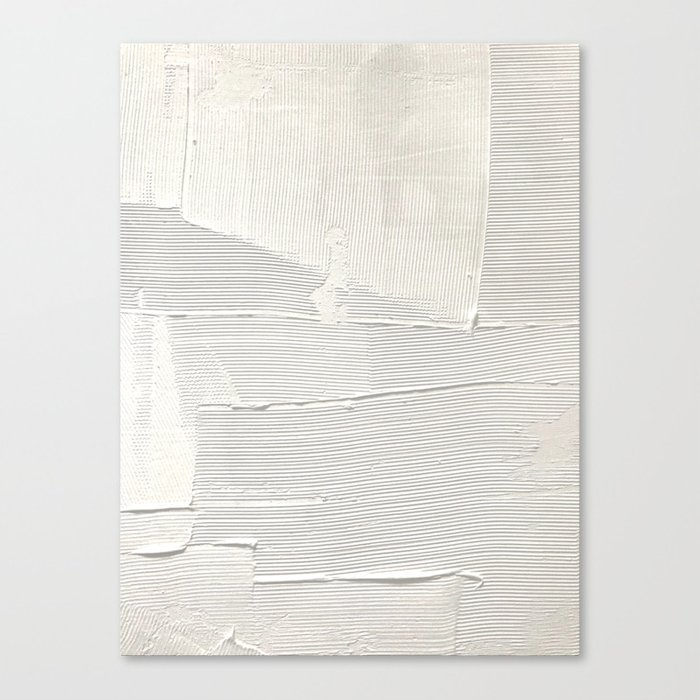 Relief [1]: an abstract, textured piece in white by Alyssa Hamilton Art Leinwanddruck