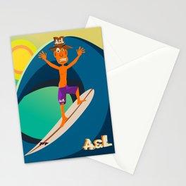 Surfer Mr. Orange Stationery Cards