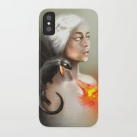 mother of dragons iPhone & iPod Cases featuring mother of dragons  by KazuneKoi