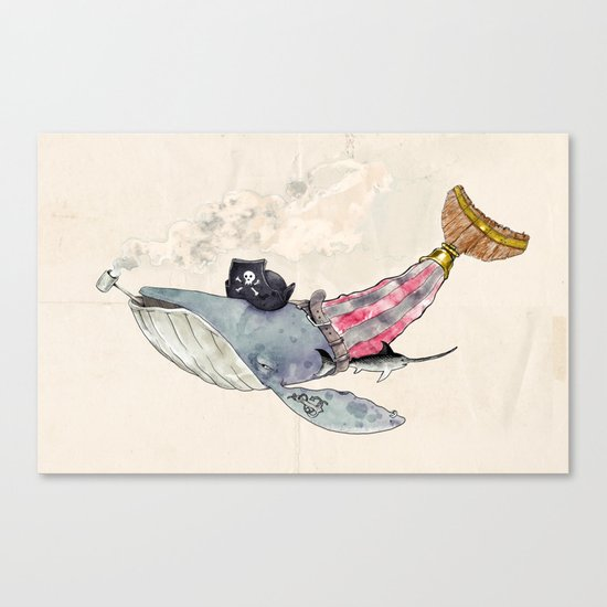 Pirate Whale Canvas Print