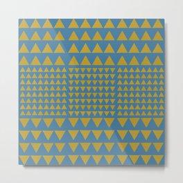 bluegreen golden triangles Metal Print