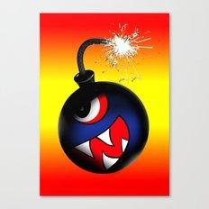 face bomb (hot) Canvas Print