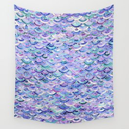 Marble Mosaic in Amethyst and Lapis Lazuli Wall Tapestry