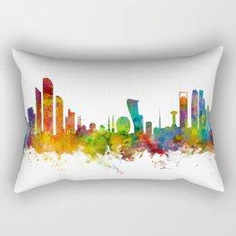 Abu Dhabi Skyline Rectangular Pillow