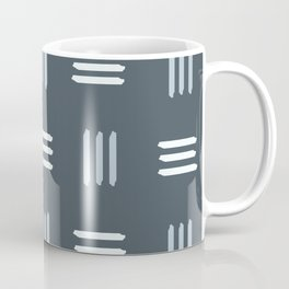 Mid Century Modern Patterned Lines (Slate) Coffee Mug
