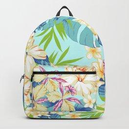 Aloha hawaii flower pattern Backpack