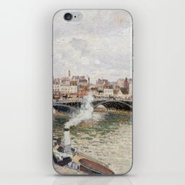 Camille Pissarro Morning, An Overcast Day, Rouen iPhone Skin