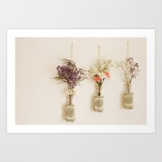 hanging flowers Art Print