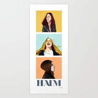 haim Art Prints featuring HAIM by James Bousema