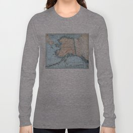 Vintage Map of Alaska (1921) Long Sleeve T-shirt