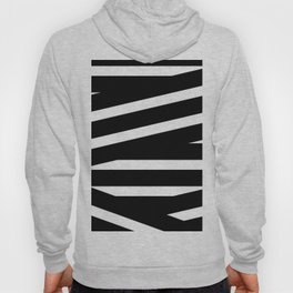 Abstract black & white Lines Stripes Pattern - Mix and Match with Simplicity of Life Hoody