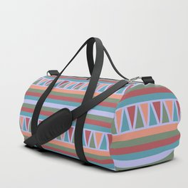 Stripes and Triangles African Pattern Duffle Bag