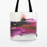 georgiana paraschiv Tote Bags featuring Unravel by Georgiana Paraschiv