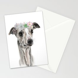 Florence the Whippet Stationery Cards