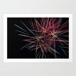 Firework Particles Art Print