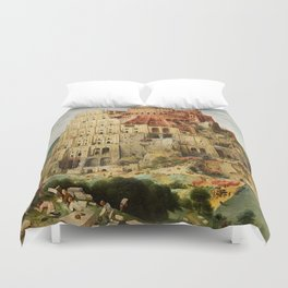 Tower Of Babel Pieter Bruegel The Elder Duvet Cover