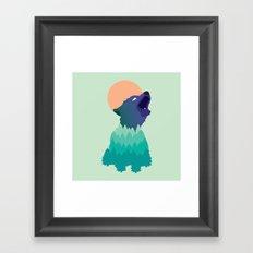 Evergreen Coyote Framed Art Print